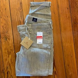 AG pinstripe jeans - new